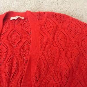Orange short sleeve sweater